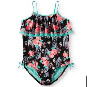 Wonder Nation Floral Print Bathing Suit